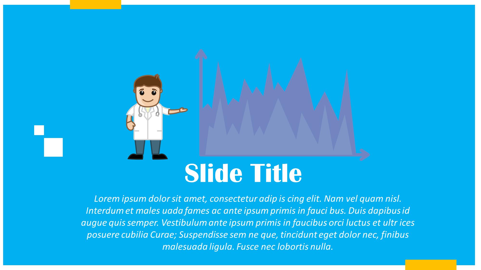 Doctor Showing Data Chart Presentation Slide