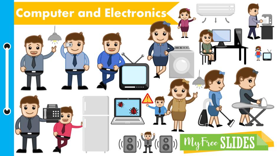 Electronics Cartoon Clip-art for Presentations