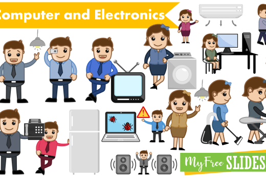 Electronics Cartoon Clip-art for Presentations