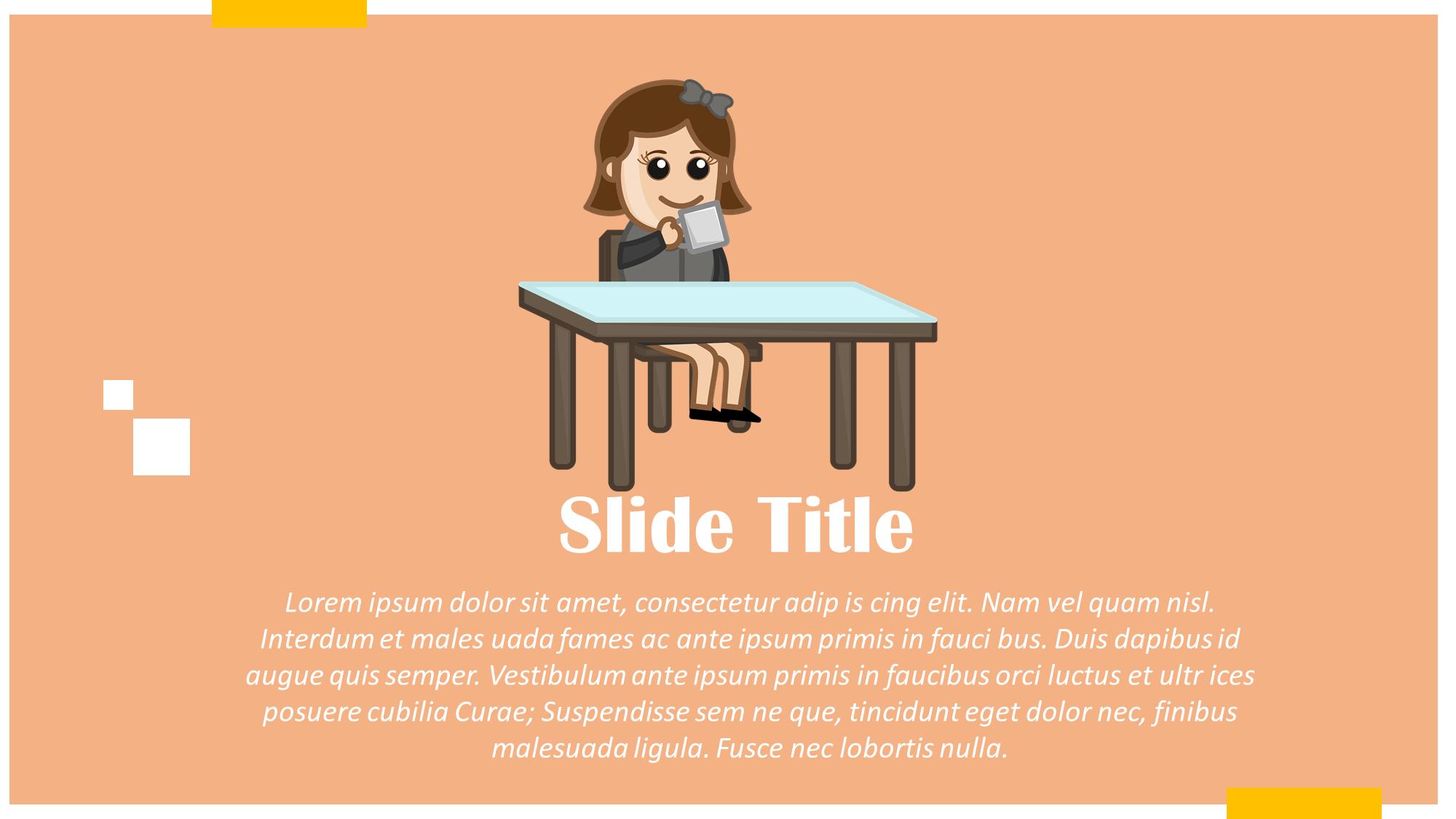 Girl Eating Cartoon Slide