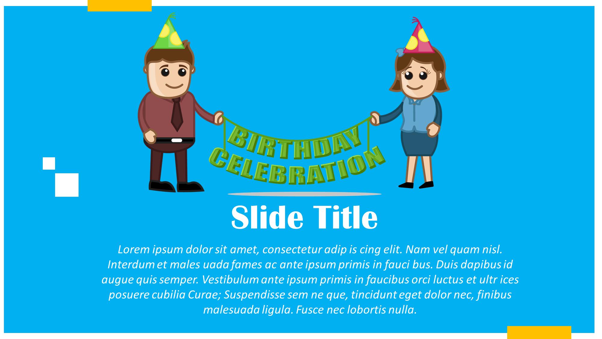Happy Birthday Presentation Slide