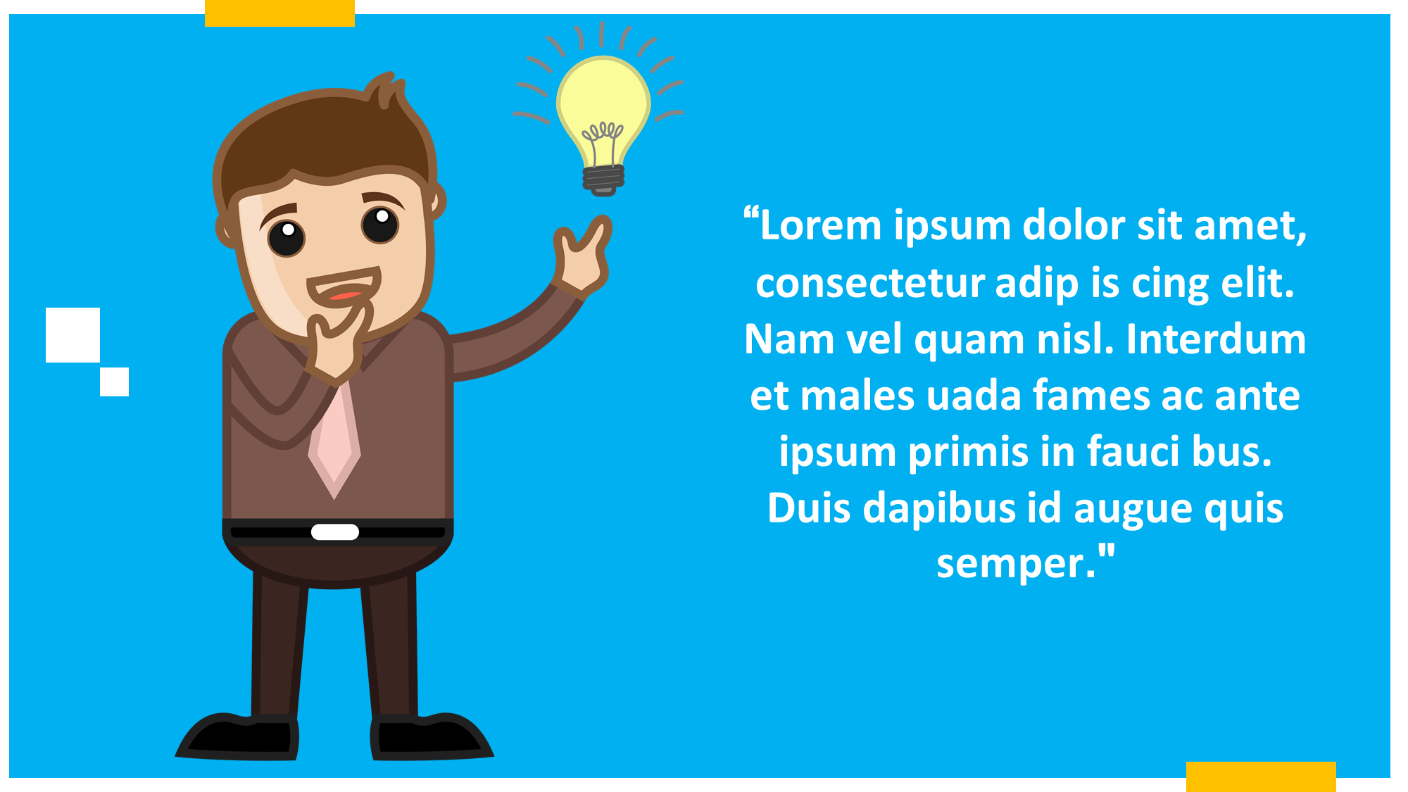 Idea Bulb Cartoon Presentation Slide