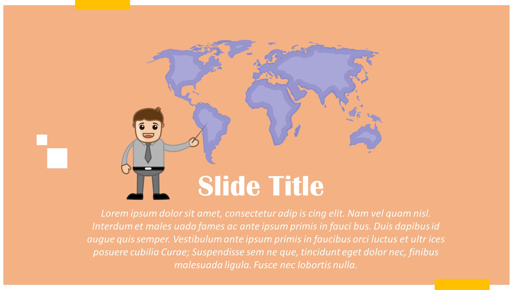 Man Presenting World Map Presentation Slide