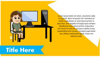 Personal Computer Cartoon slide