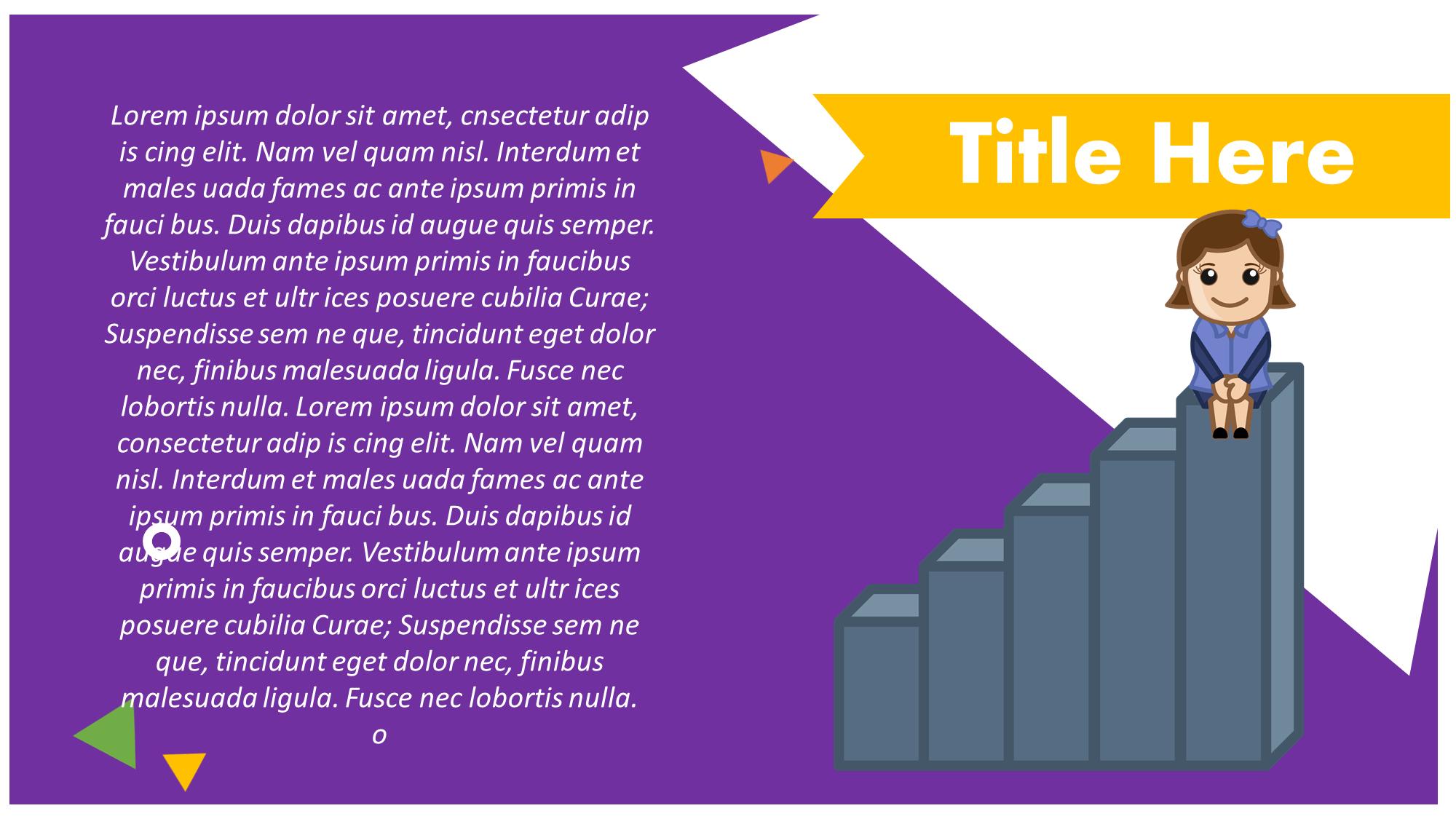Profit Graph Cartoon Presentation Slide