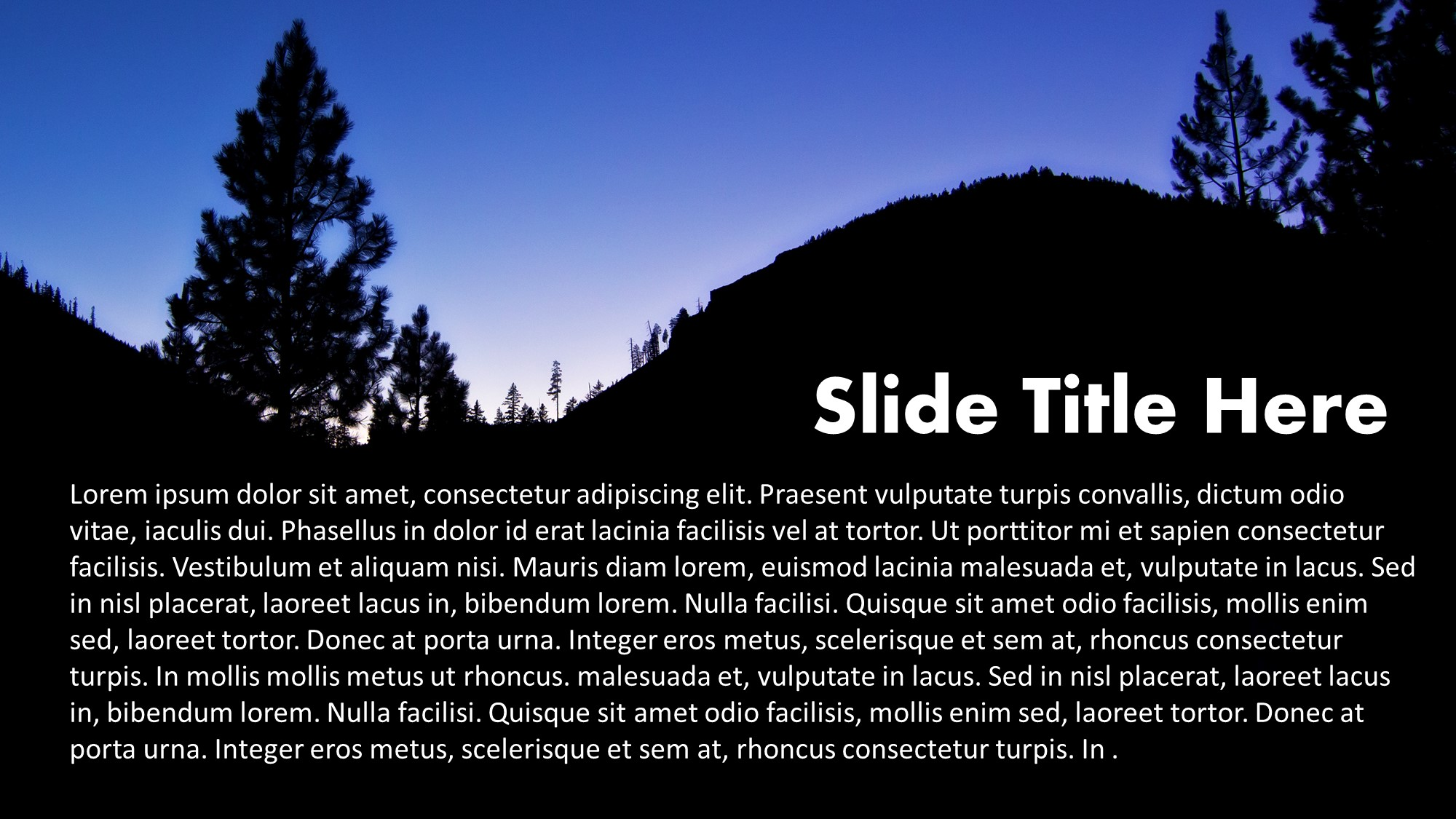 Silhoutte evening slide