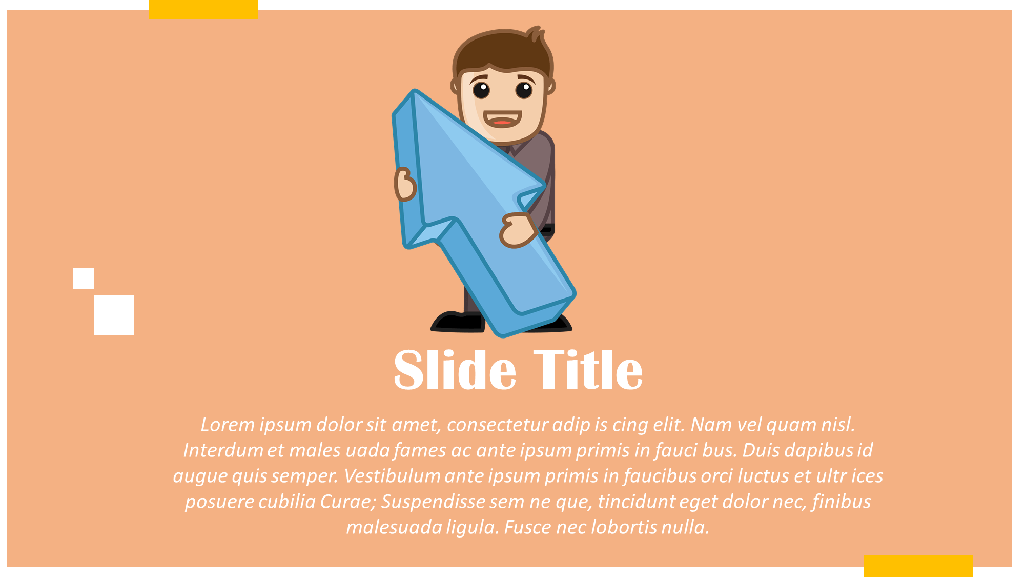 big arrow presentation slide
