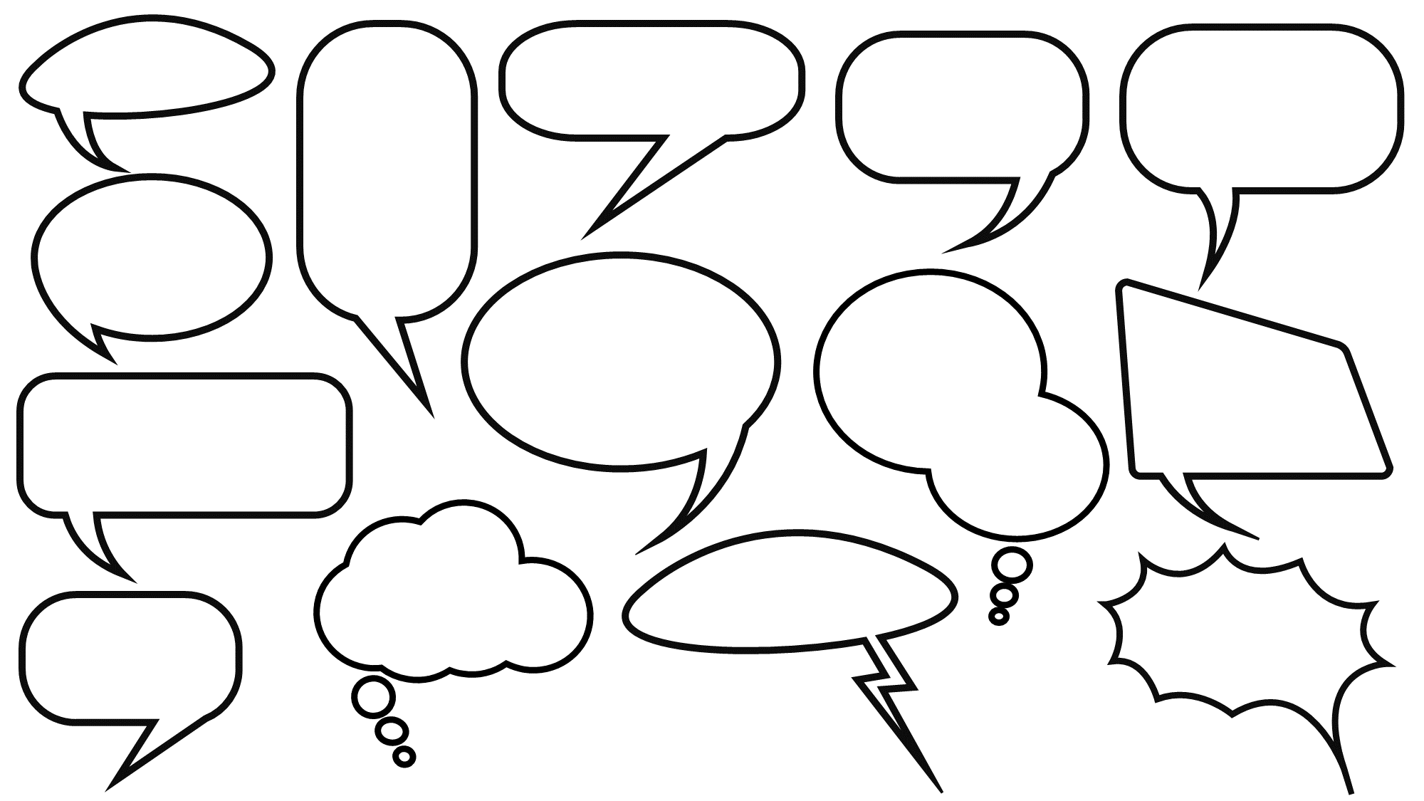 cartoon speech bubbles for presentations