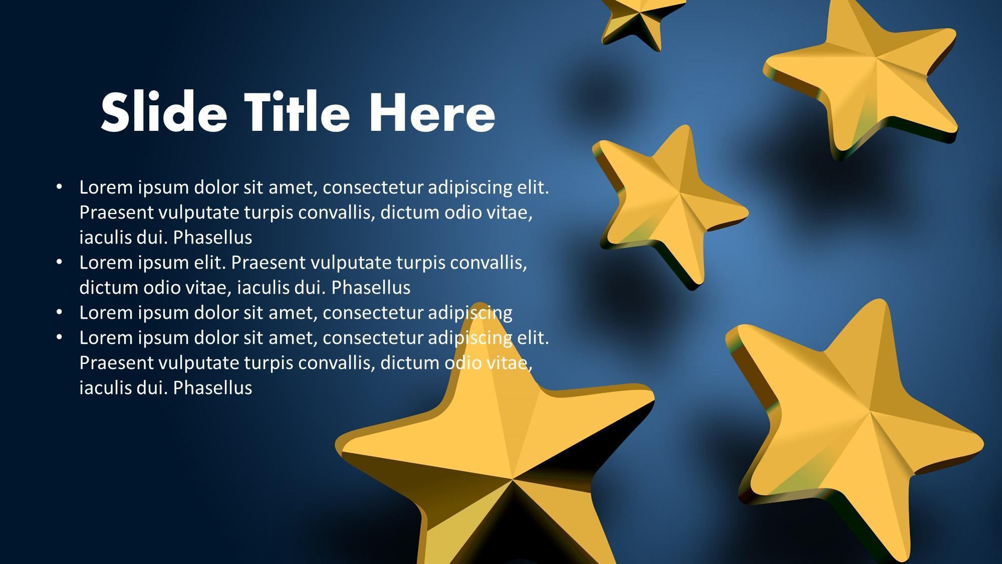 stars presentation slide