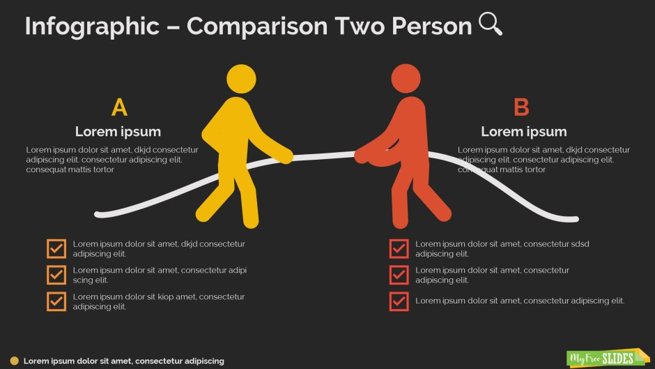 Comparison Two Person Infographic-dark