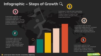 Steps of Growth Infographic-dark