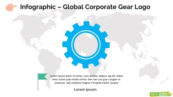 Infographic Slide Global Corporate Gear Logo