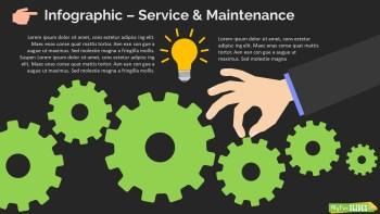 Infographic Slide Service & Maintenance Dark