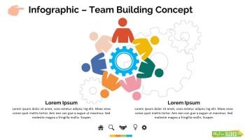 Infographic Slide Team Building Concept