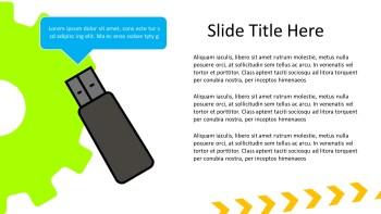 pen drive presentation slide