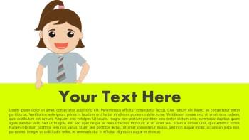 school girl presentation banner slide
