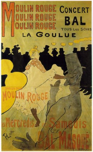 MyFrenchLife™ – MyFrenchLife.org – Louise Weber – La Goulue – Toulouse Lautrec – Moulin Rouge – cancan – poster