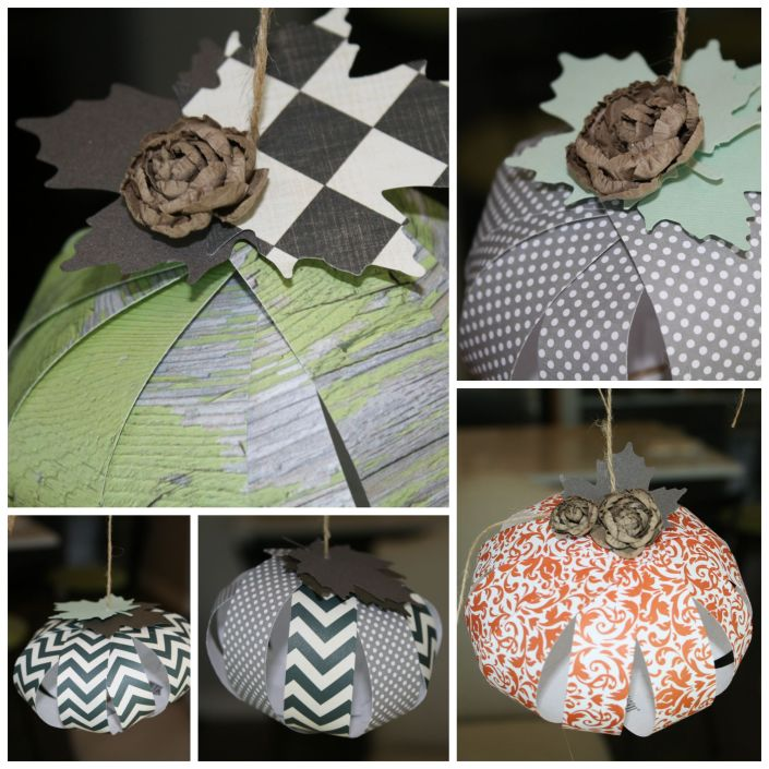 paper pumpkins from My French Twist