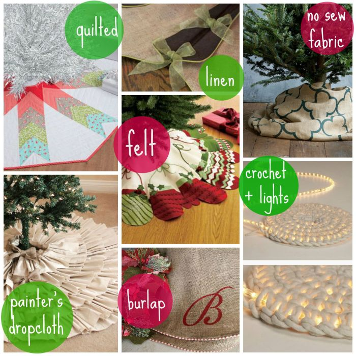 tree skirt materials with myfrenchtwist.com