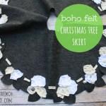 Made Boho Felt Christmas Tree Skirt My French Twist