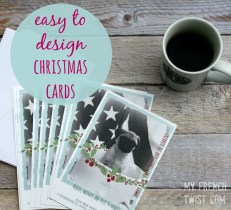 make your own holiday cards with vistaprint - myfrenchtwist.com