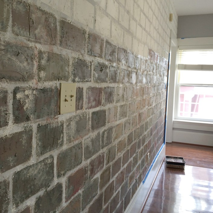 Faux Brick Wall Tutorial By My French Twist Easy To Follow