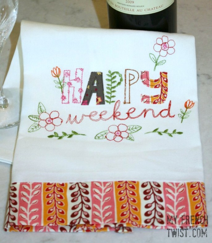 happy weekend embroidery - myfrenchtwist.com