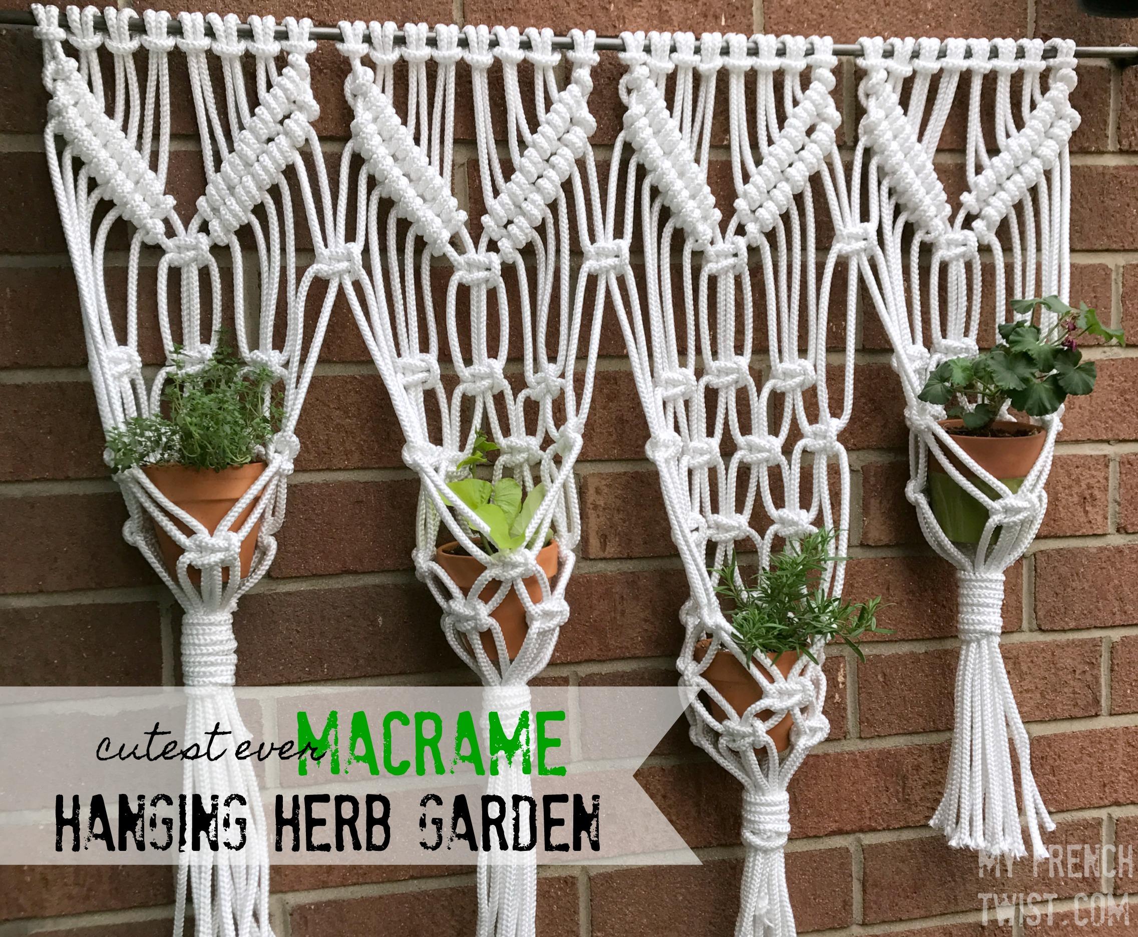Macrame Herb Garden   Myfrenchtwist.com