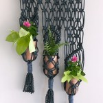 macrame 3-pot planter tutorial