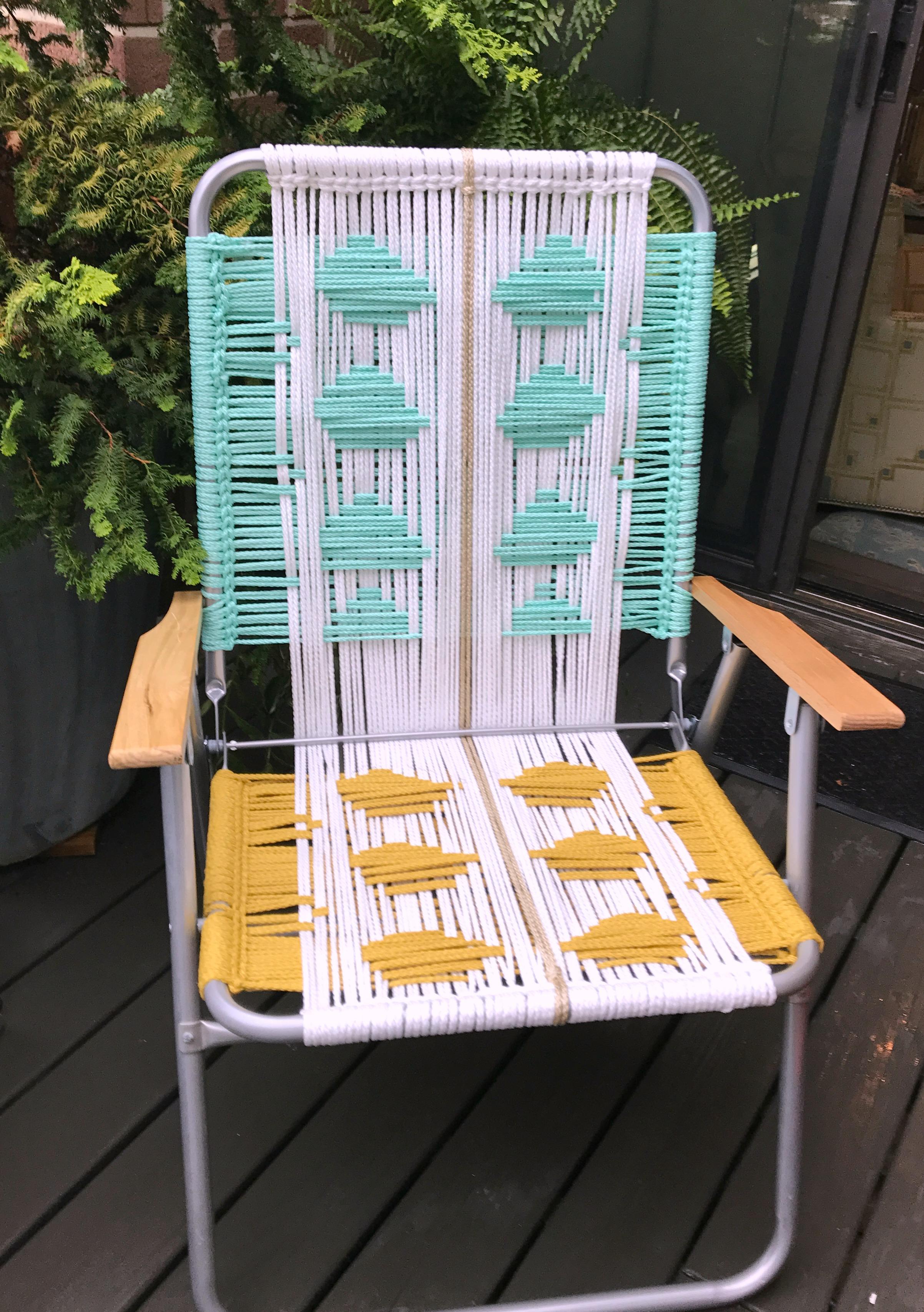 Macrame chair back patterns