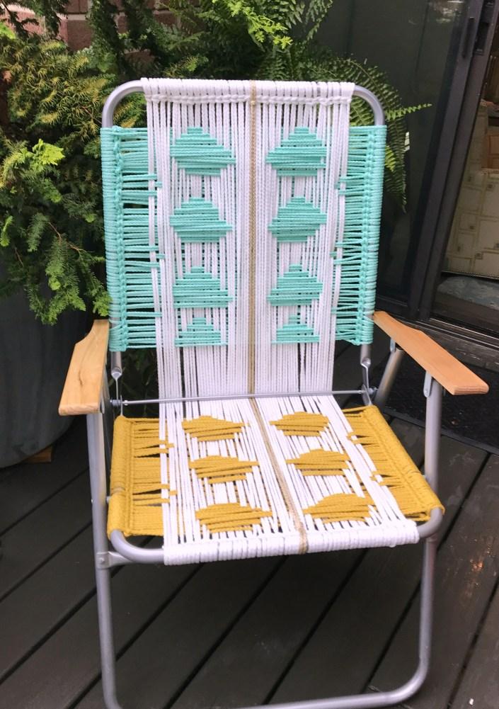 Macrame Lawn Chair Tutorial My French Twist