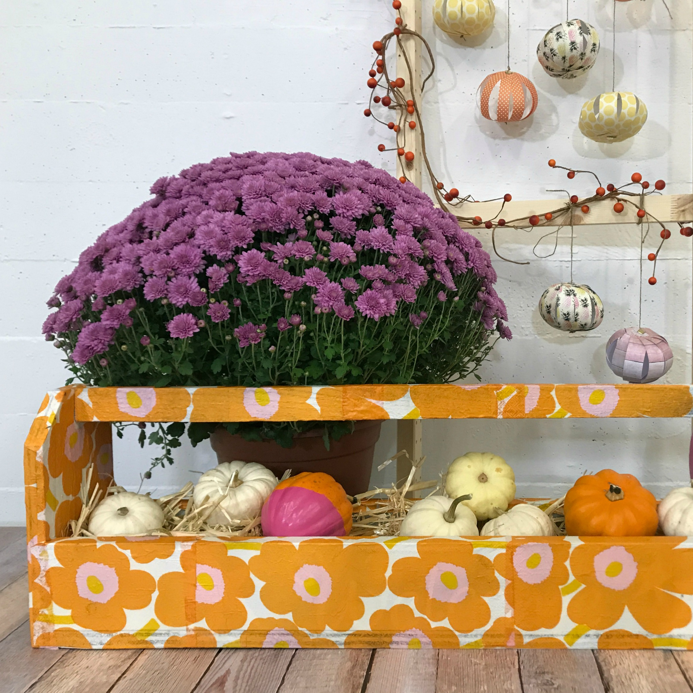 marimekko fall arrangement tutorials