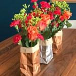 paper bag vases