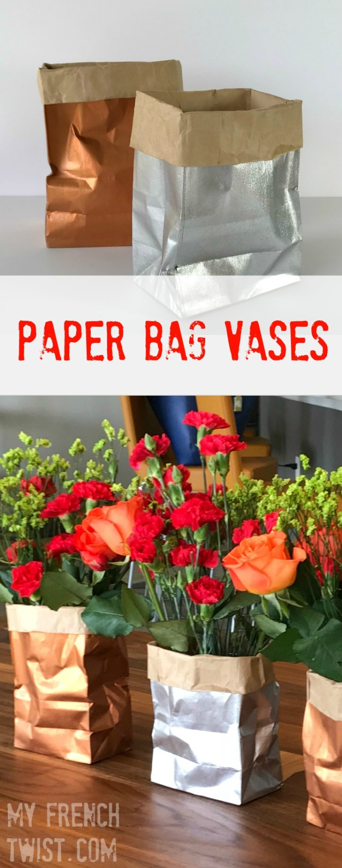 Paper bag vases my french twist paper bag vase floridaeventfo Gallery