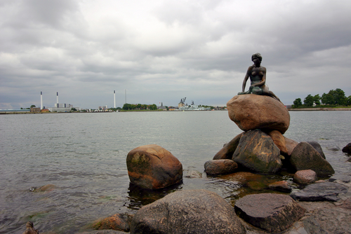 statue of the Little Mermaid in Copenhagen