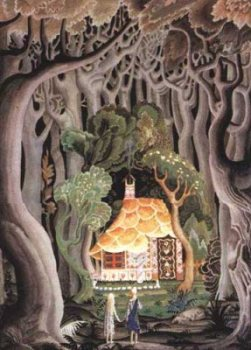 the witch's gingerbread cottage