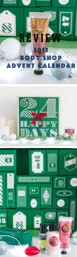 review 2015 body shop advent calendar my fruity kitchen. Black Bedroom Furniture Sets. Home Design Ideas