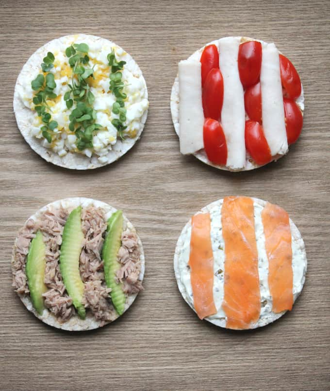 healthy toppings for rice cakes