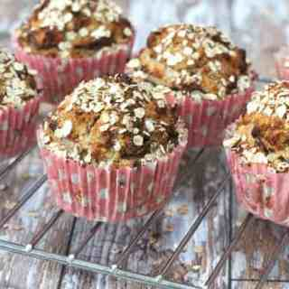 Spiced Pear & Oat Breakfast Muffins