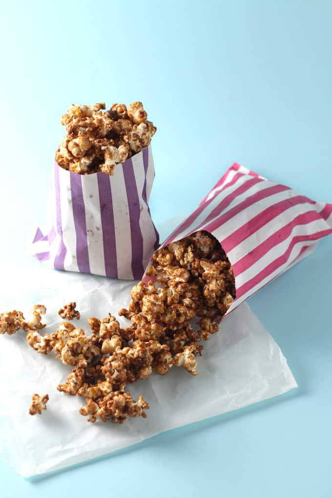 salted caramel chocolate popcorn