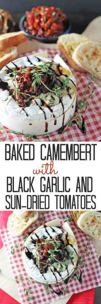 Baked Camembert with Black Garlic & Balsamic Sun-Dried Tomatoes | My Fussy Eater Blog