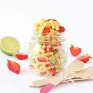 Avocado & Strawberry Macaroni Pasta Salad