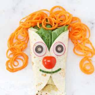 Cheese, Veggie & Olive Hummus Wrap for Kids