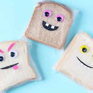 Monster Face Sandwich Bags