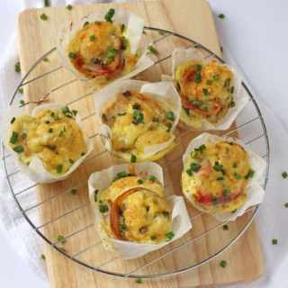 Bacon, Cheese & Chive Egg Muffins