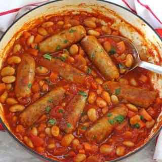 Easy Sausage & Butterbean Casserole