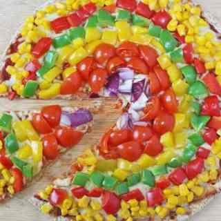 Rainbow Veggie Pizza for Kids
