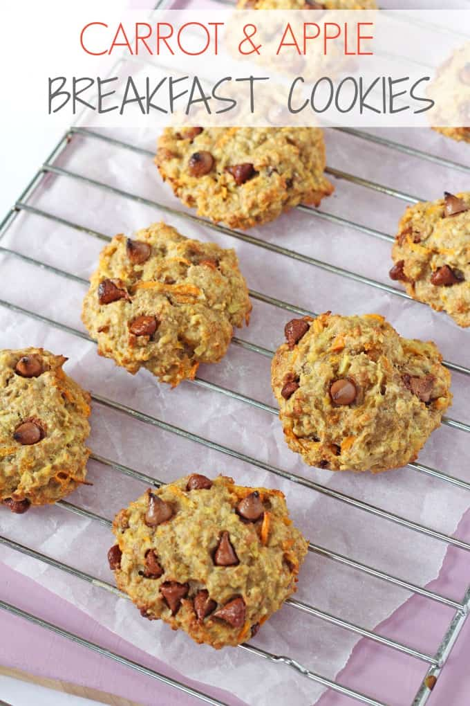 Carrot Apple & Oat Breakfast Cookies For Kids | My Fussy Eater