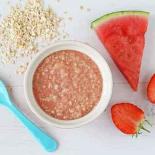 Strawberry & Watermelon Baby Porridge