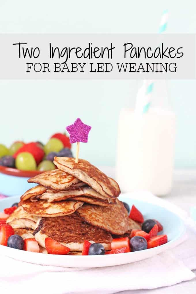 Two Ingredient Pancakes for Baby Weaning